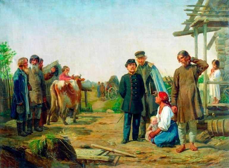 Пренебрежительное отношение помещиков к крестьянам
