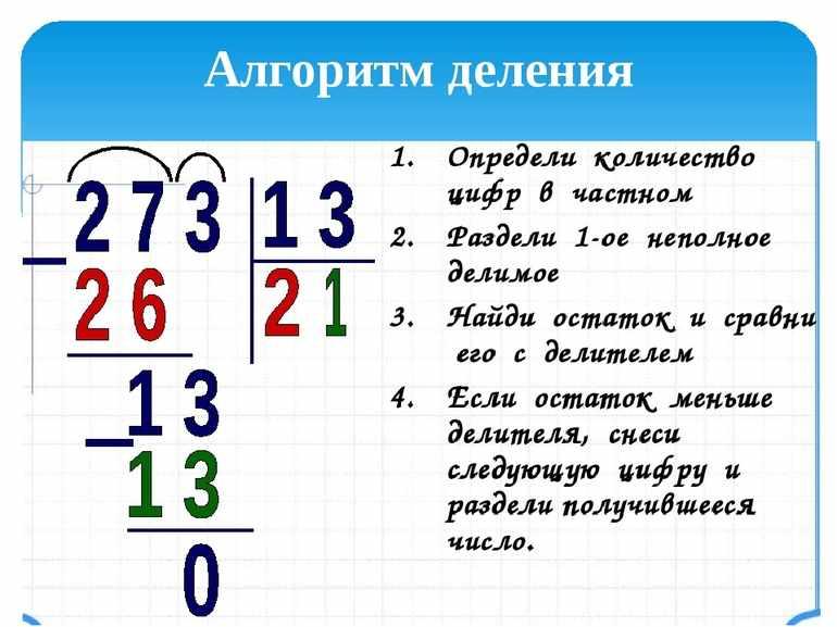 Алгоритм деления