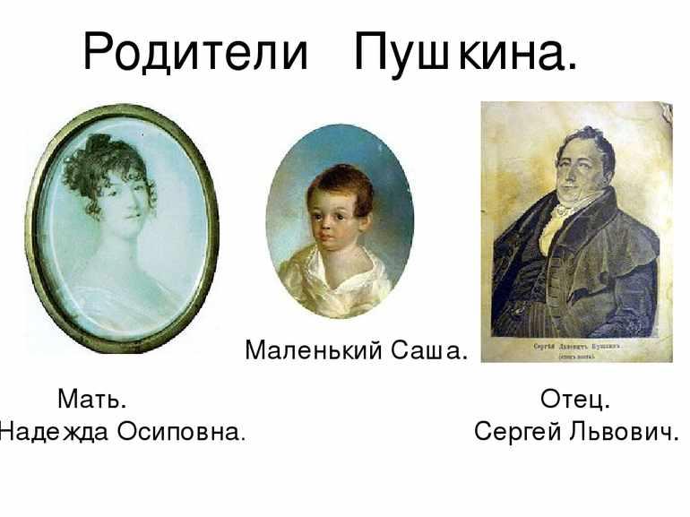 Родители пушкина