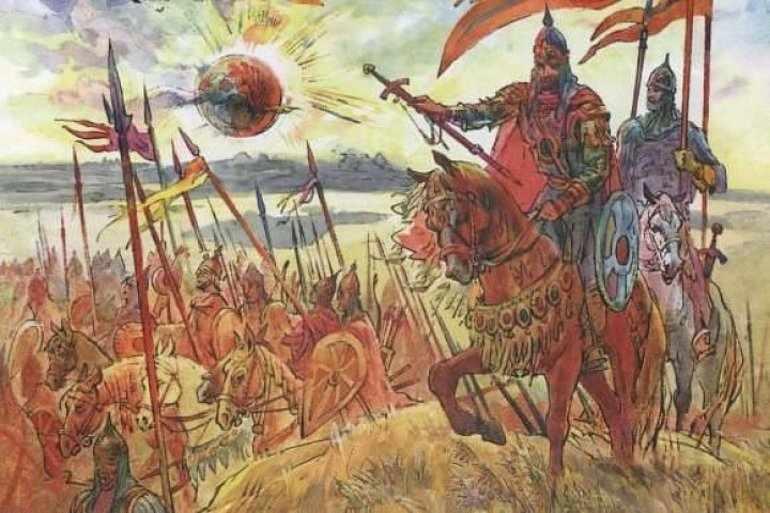 С Игорем выступило не больше 9 тысяч воинов