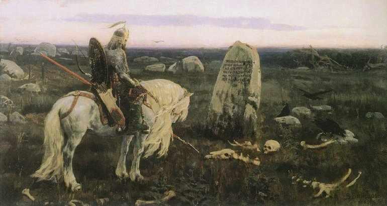 Картина Васнецова Витязь на распутье