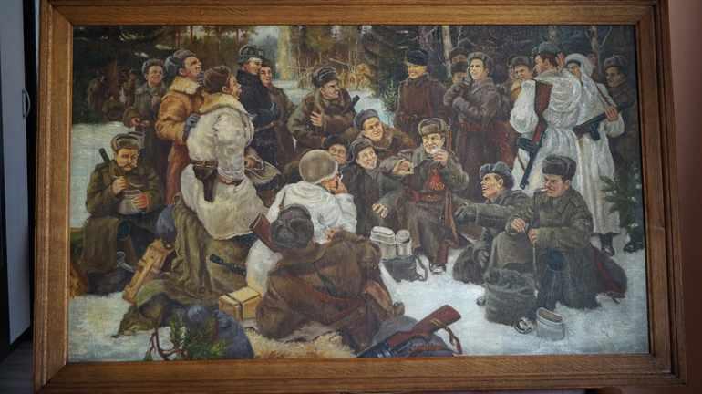 Картина Непринцева «Отдых после боя»