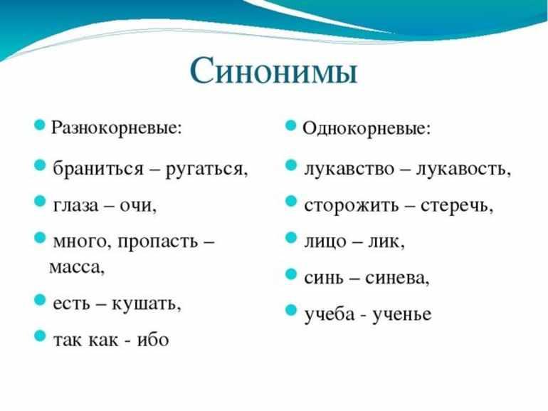 Синонимы