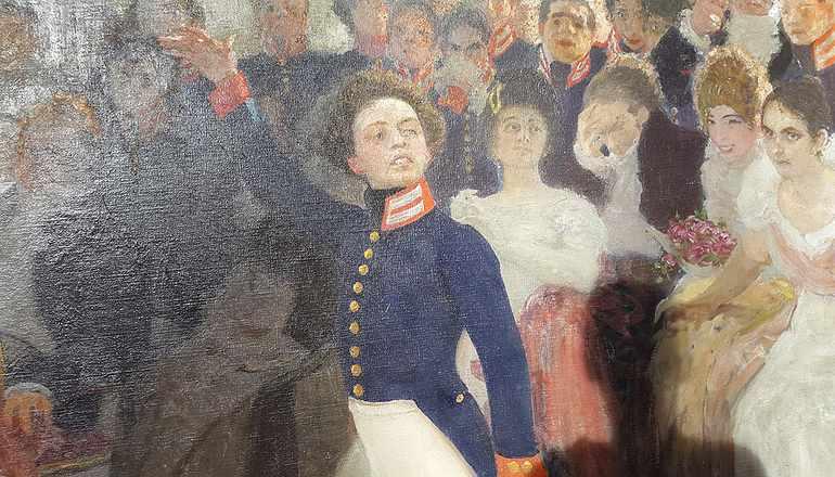 У Александра Сергеевича светлое лицо и белоснежные панталоны
