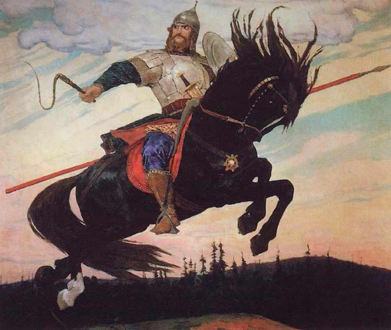 Картина Виктора Михайловича Васнецова «Богатырский скок»
