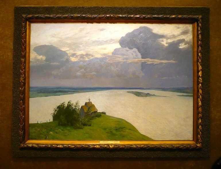 Картина Левитана «Над вечным покоем»