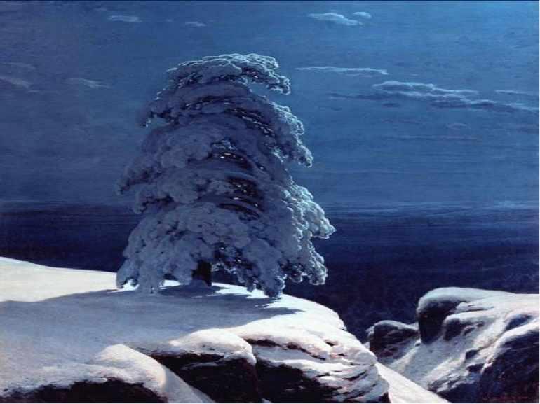 На севере диком стоит одиноко на горной