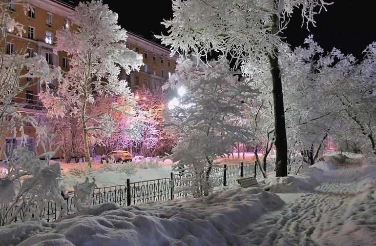 Сочинение зима в моем городе