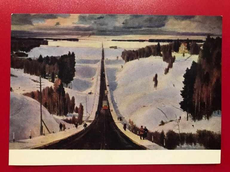 Картина Георгия Нисского «Подмосковная зима»