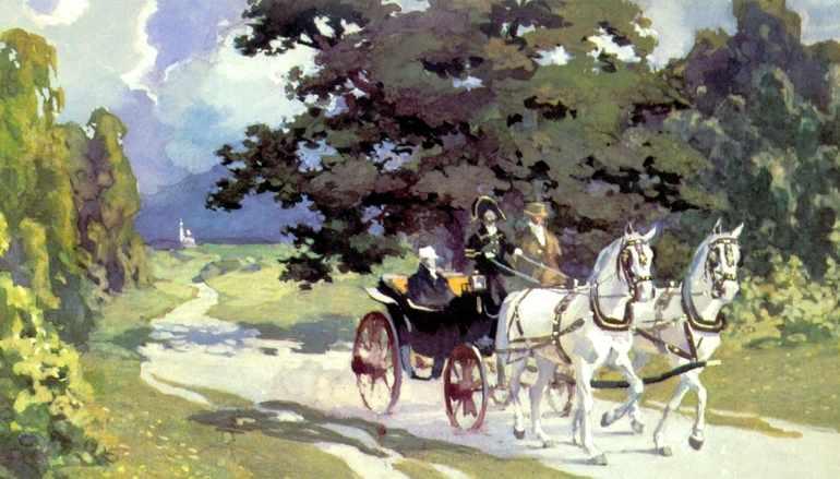 Андрей едет к Ростовым в Отрадное
