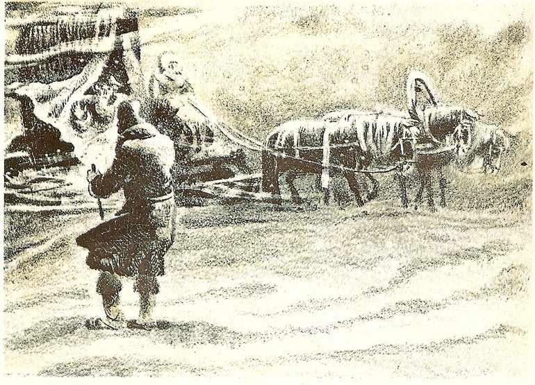 Картина бурана в «Капитанской дочке»