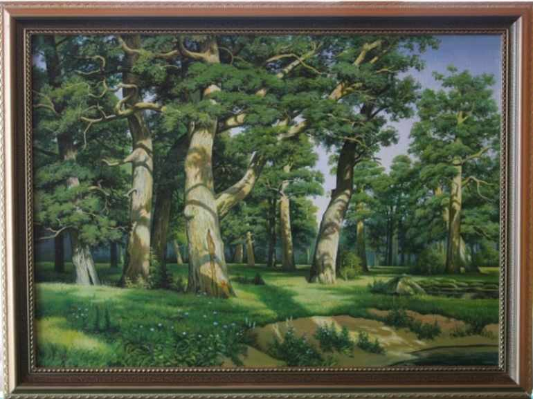 Картина Шишкина «Дубовая роща»