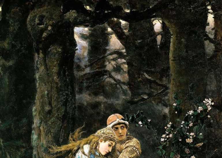 картина васнецова иван царевич на сером волке