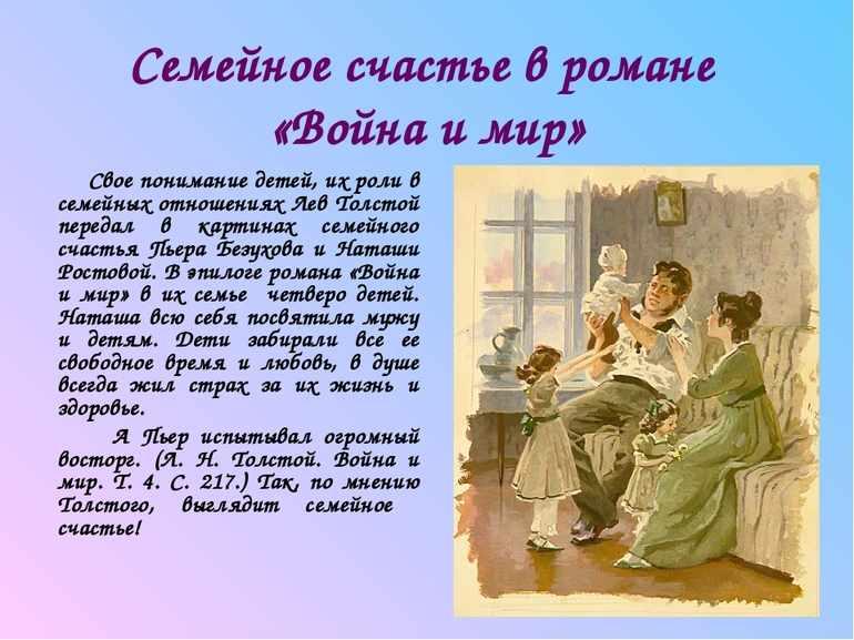 Тема семьи в войне и мире