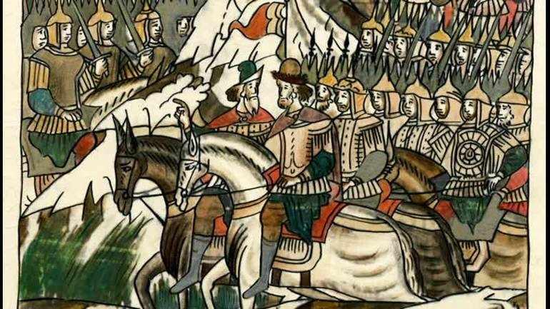 Василий отправился с войском в Москву.