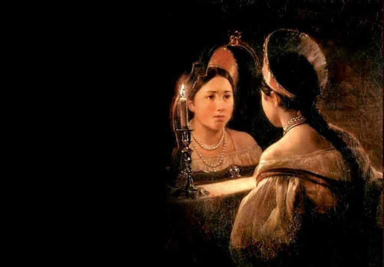 Картина Брюллова «Гадающая Светлана»