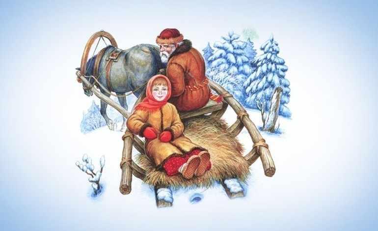 В зимний лес Настеньку отправила злая мачеха,