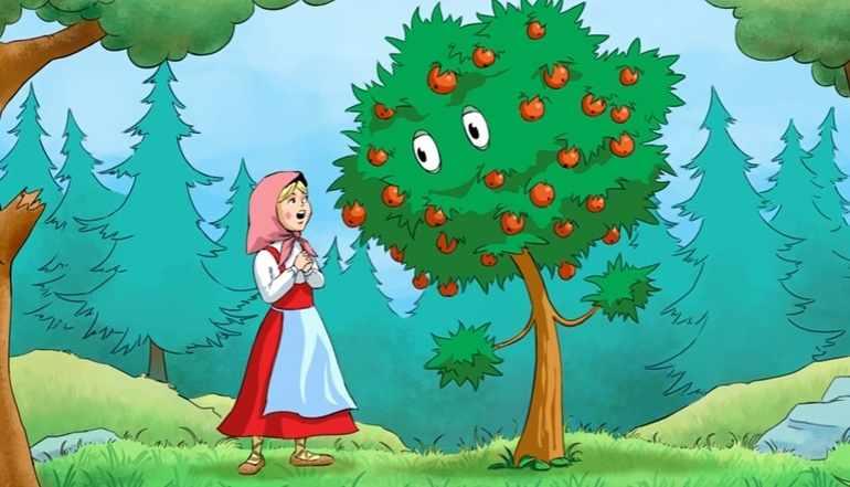 Сестрица поела плодов с яблони