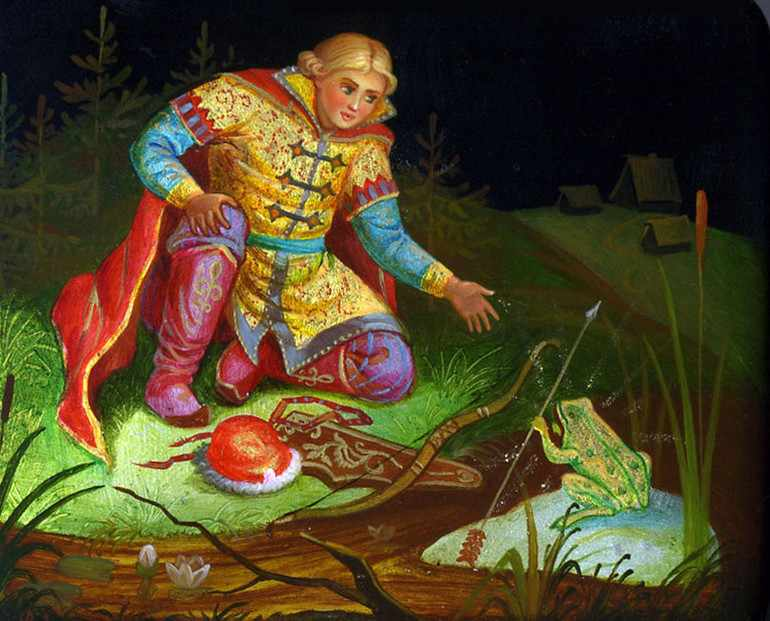 Иван-царевич нашел свою стрелу у лягушки