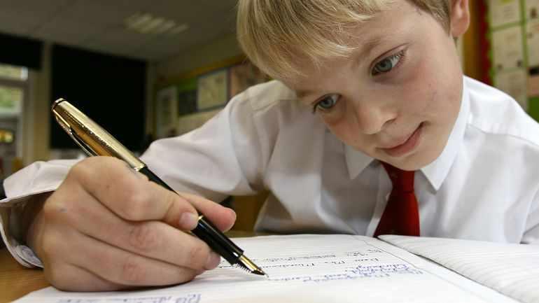 Ученик пишет примерный план